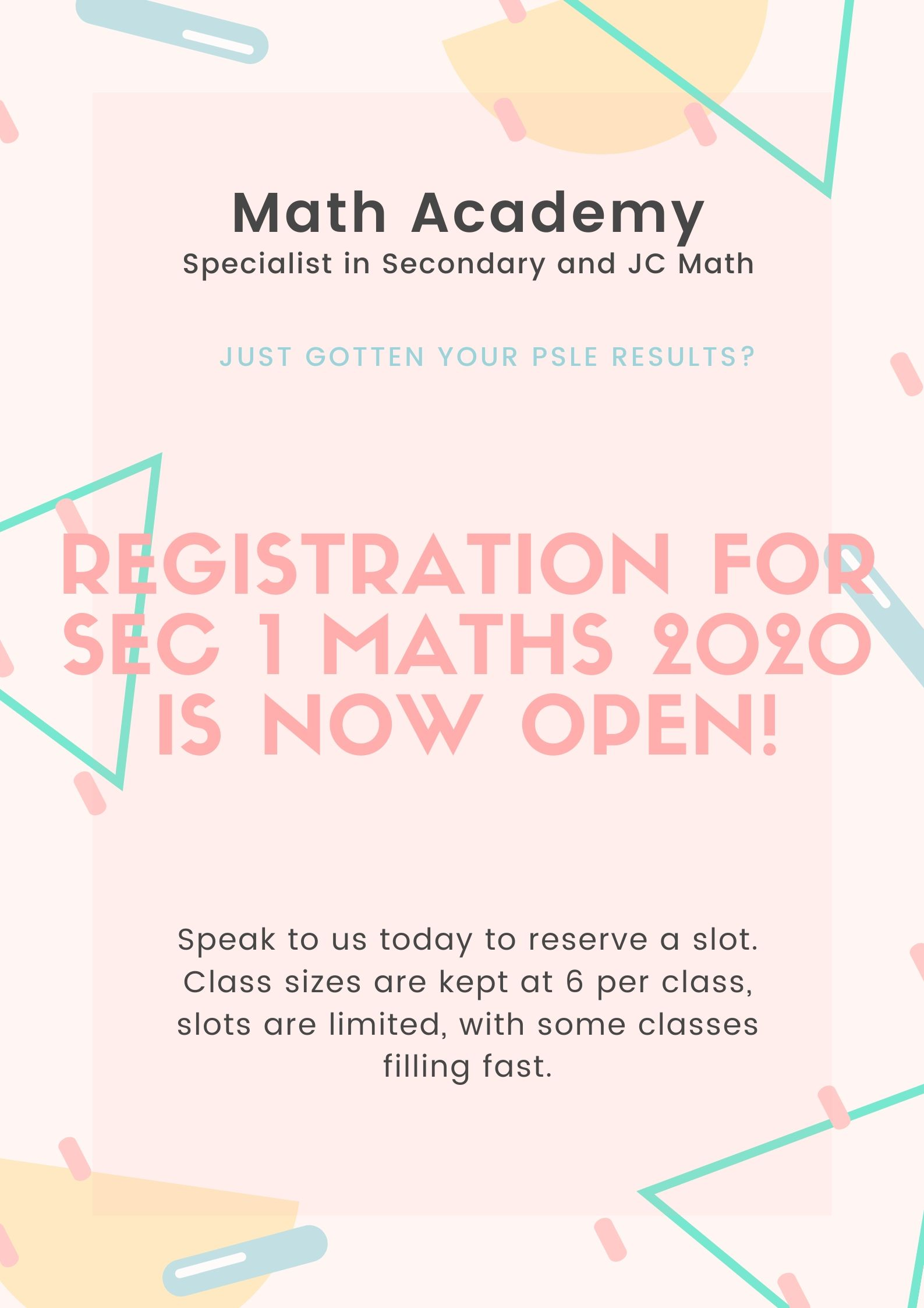 Math Academy Registration 2020